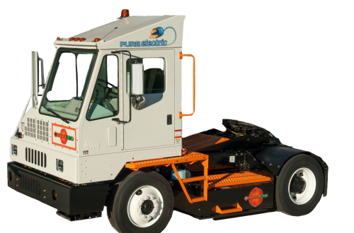 Orange EV T-Series Terminal Truck Vehicle