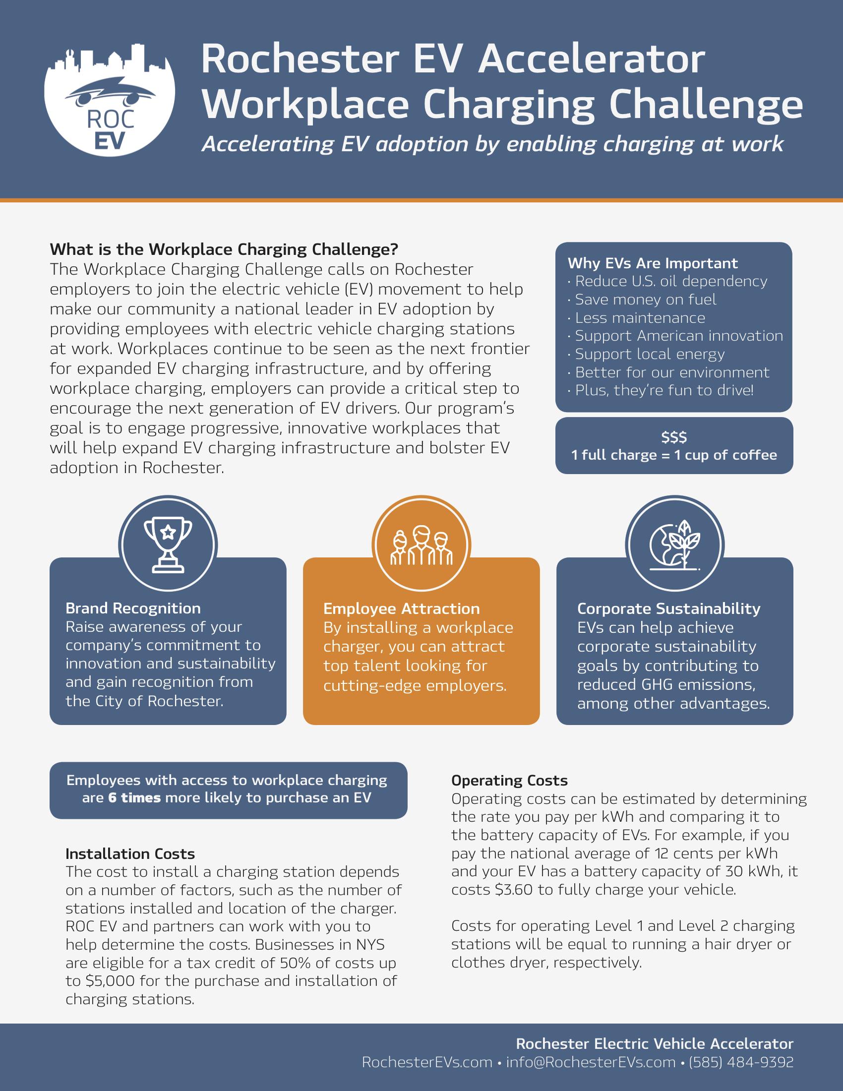 Workplace Charging Rochester Ev Accelerator Evs Car Alarm Wiring Diagram 2 Roc Challenge Pledge Above